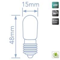 Scatola da 10 lampadine LED per frigorifero E14 1.2W 100lm 6400K