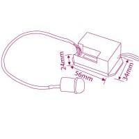 Rilevatore di movimento da incasso a soffitto o lampade