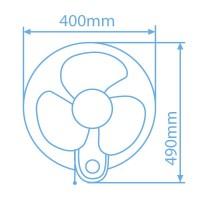 Ventilatore oscillante da parete 48W multi-orientabile