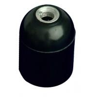 Portalampada liscio E27 4A 250V color nero