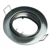 Anello orientabile rotondo da incasso - Nichel satinato
