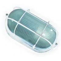 Lampada applique ovale E27 IP44 da parete esteriore in alluminio