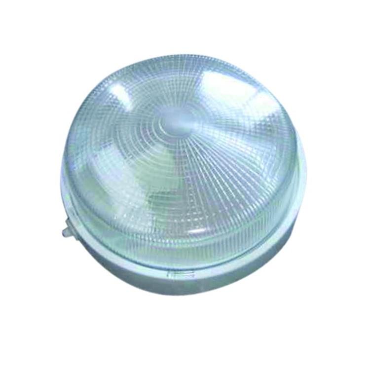Lampada applique da parete esteriore in plastica, IP44 E27 color bianco
