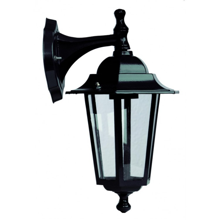 Lampada da parete per giardino esteriore 6 lati in alluminio tipo lanterna E27, 60W. 230V IP44 color bianco