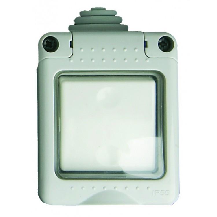 Interruttore pulsante impermeabile IP55 da esterno, 16A, 250V 50Hz