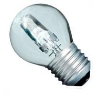 Scatola da 10 lampadine ECO alogena chiara a sfera 28W E27 (40W)