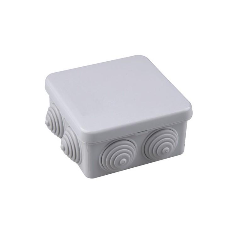 Scatola di giunzione grigio impermeabile IP54 80x80x40mm.