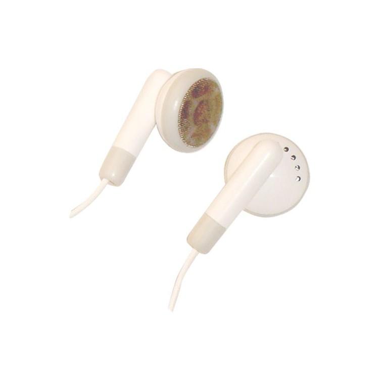 Cuffie auricolari stereo color verde da Ø15mm. Filo da 1.2mt . Jack 3.5mm