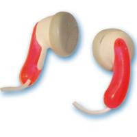 Cuffie auricolari stereo color rosso trasparente da Ø15mm. Filo da 1.2mt . Jack 3.5mm