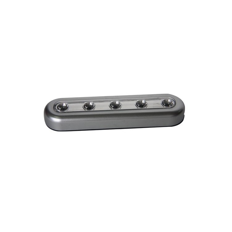 Pushlight con 5 LEDs luce bianca, ideale per camere, garage, scale, camper, campeggio, camping, ecc. 3 x R03 AAA