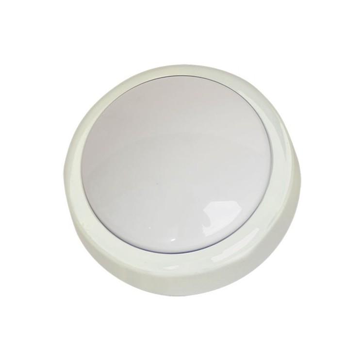 Pushlight rotondo con lampadina crypton, ideale per stanze, garage, scale, Caravan, campeggio, ecc 4R6 AA 142x50mm