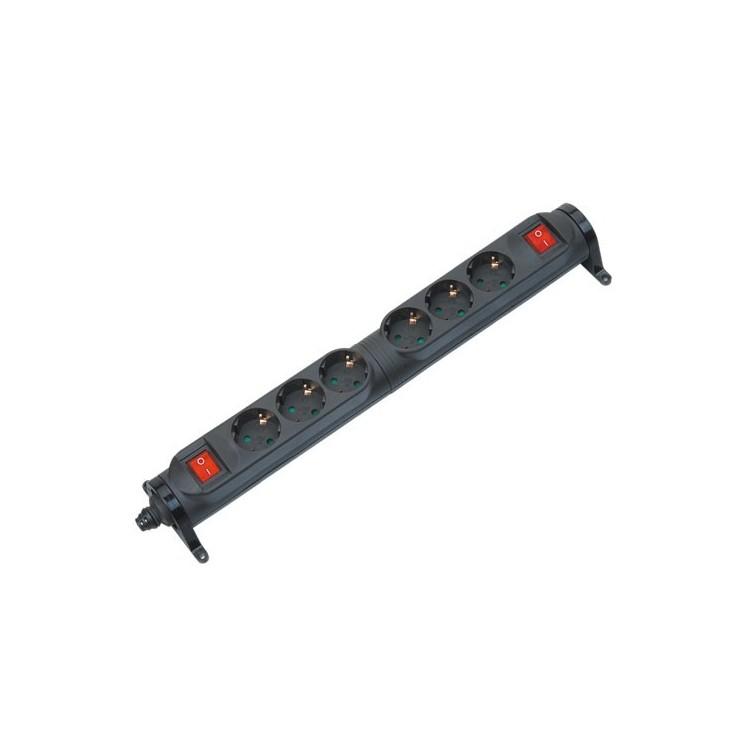 Presa multiple giratoria 6U con interruttore 2p + schuko
