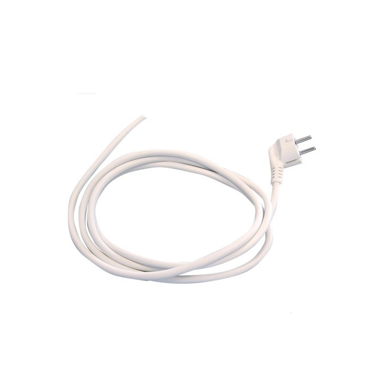 Cavo di collegamento schuko in neopreno bianco (3x1mm) 1,5Mt 10/16A 250V