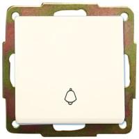 Interruttore pulsante a incasso bianco con campanello 56 x 56mm 10A, 250V