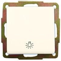 Interruttore pulsante a incasso bianco con simbolo luce 56 x 56mm 10A, 250V
