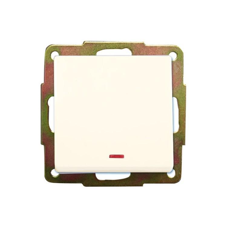 Interruttore con LED a incasso bianco 56 x 56mm 10A 250V
