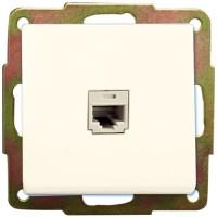 Presa per connessione dati Internet RJ45 a incasso bianca, 56x56mm.