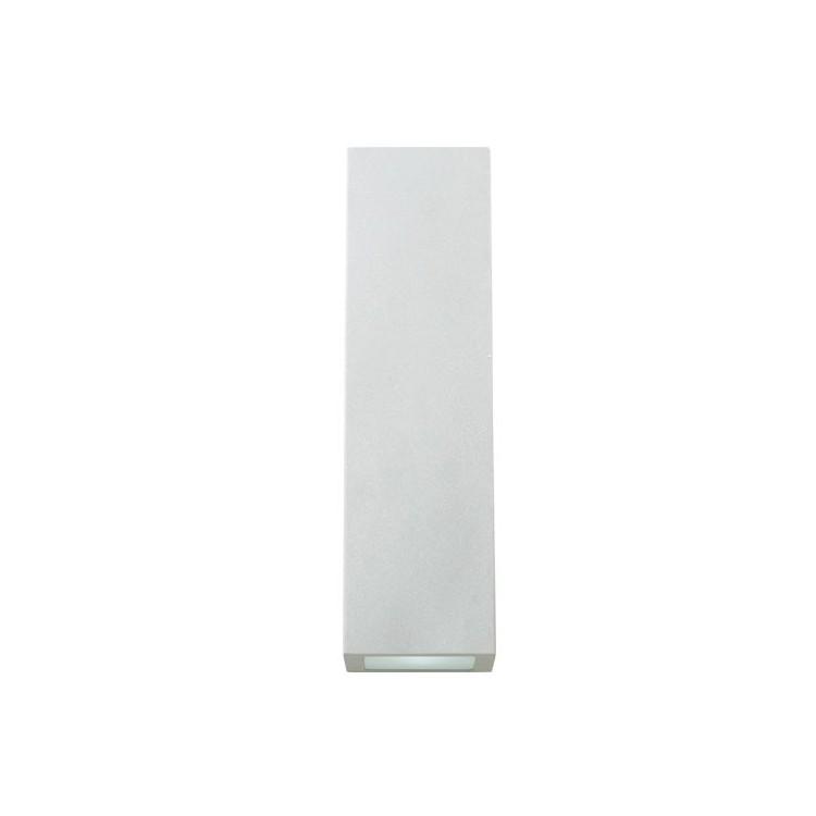 Lampada applique GU10 35W IP44 da parete in alluminio con diffusore in vetro traslucido