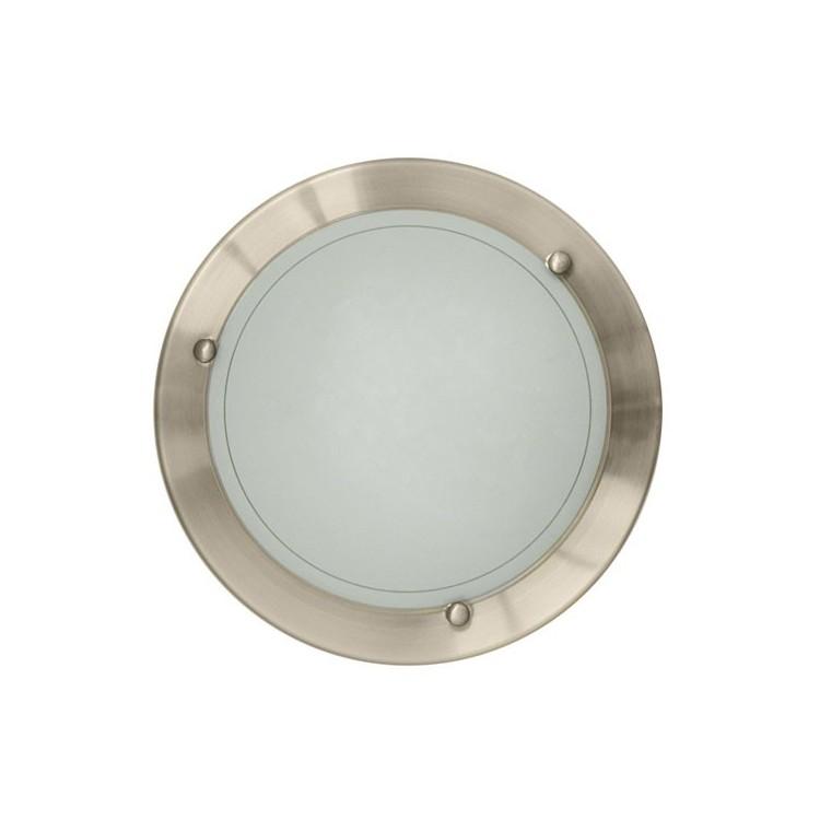 Plafoniera da soffitto 20W E27 uso interno (60W), IP20 color nichel satinato