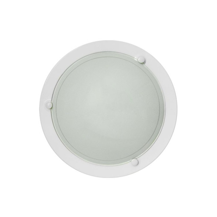 Applicare un soffitto rotondo bianco, 20W E27 uso interno (60W), IP20.