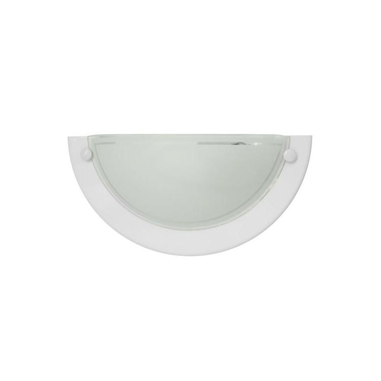 Lampada applique da parete semicircolare bianco, 20W E27 uso interno (60W), IP20.