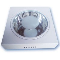 Downlight di superficie quadrato  2 x E27 x 25W - Nichel satinato