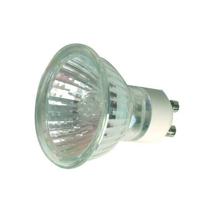 Scatola da 10 lampadine alogene dicroiche GU10 50W 60°