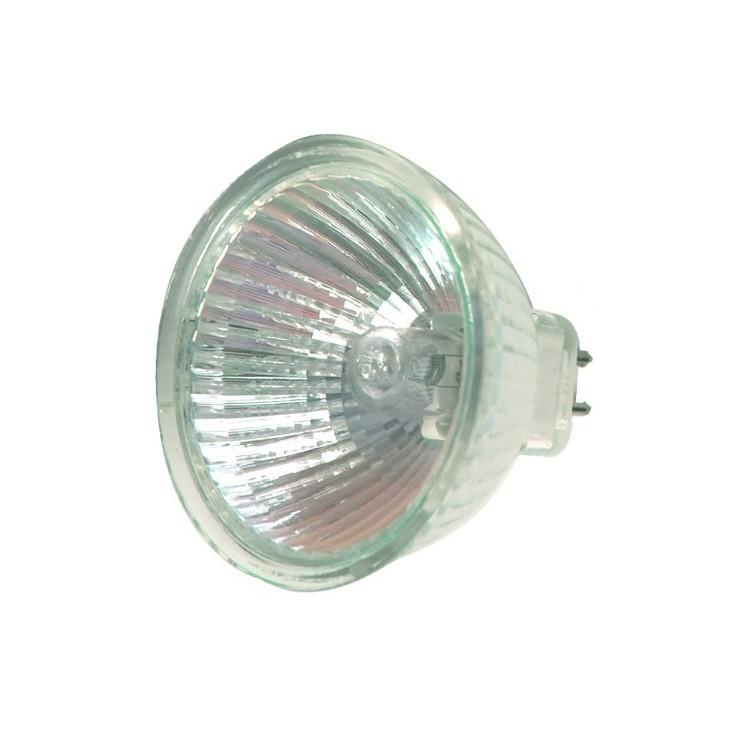 Scatola 10 lampadine alogena dicroica MR16 50W 60°