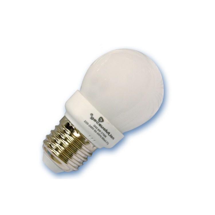 Scatola da 10 lampadine sferiche a basso consumo 11W E14 6400K Luce fredda