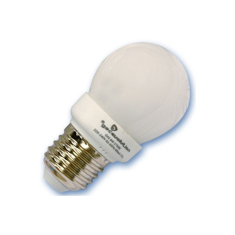 Scatola da 10 lampadine sferiche a basso consumo 11W E27 6400K Luce fredda