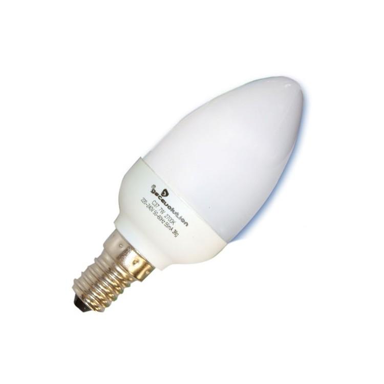 Scatola da 10 lampadine candela a basso consumo 7W E14 2700K Luce calda