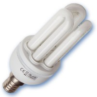 Scatola da 10 lampadine Mini a basso consumo 7W E14 2700K Luce calda