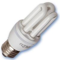 Scatola da 10 lampadine Mini a basso consumo 15W E27 4200K Luce naturale