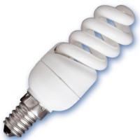 Scatola 10 lampadine a basso consumo a spirale Micro 9W E14 2700K calda