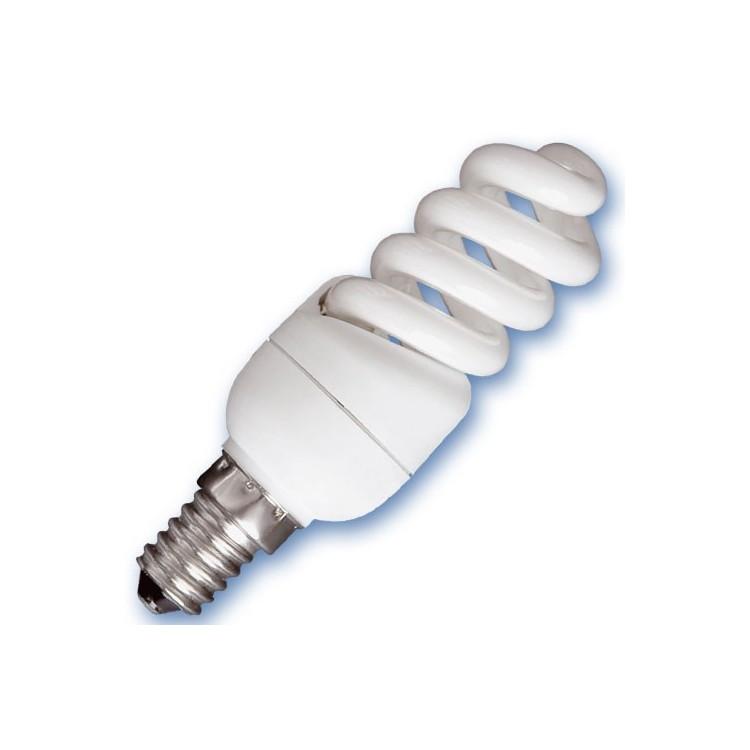 Scatola da 10 lampadine Micro spirale a basso consumo 11W E14 6400K Luce fredda