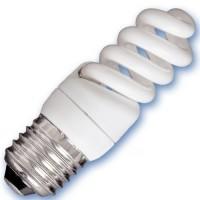 Scatola 10 lampadine a basso consumo a spirale Micro 9W E27 2700K calda