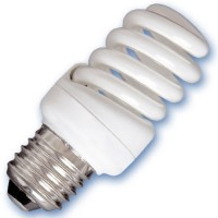 Scatola da 10 lampadine Micro spirale a basso consumo 15W E27 2700K Luce calda