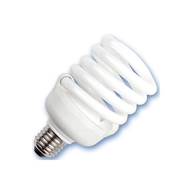 Scatola 10 lampadine basso consumo a spirale E27 30W 6400K Luce fredda