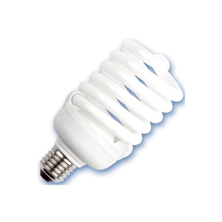 Scatola 10 lampadine basso consumo a spirale 40W E27 6400K Luce fredda