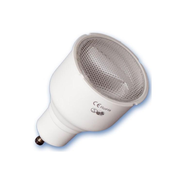 Scatola da 10 lampadine a basso consumo GU10 230V 12W 6400K Luce fredda