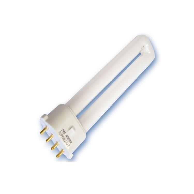 Scatola da 10 lampadine PL2G7 a basso consumo 7W 4200K Luce giorno