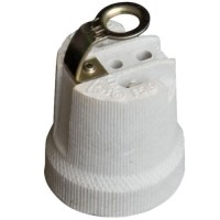 Portalampada in ceramica rinforzata E27 color bianco