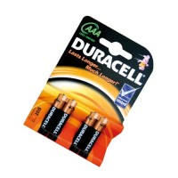 Scatola da 10 blister da 4 pile Duracell Basic LR03 (AAA) - batterie alcaline