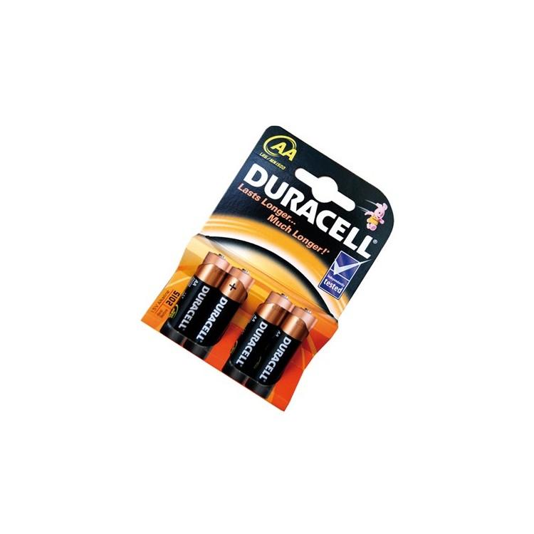 Scatola da 20 blister da 4 pile Duracell Basic LR6 (AA) - batterie alcaline