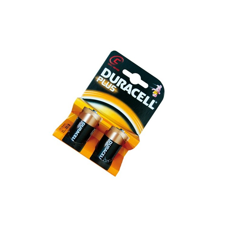 Scatola da 10 blister da 2 pile Duracell Plus LR14 C - batterie alcaline