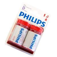 Scatola da 12 blister da 2 pile LR20 Philips - batterie alcaline