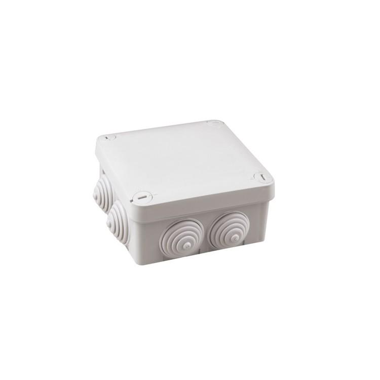Scatola grigia superficie impermeabile IP54 105x105x40mm.