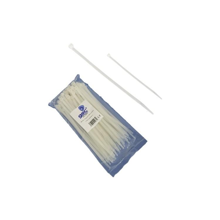 Borsa da 25 fascette stringicavo 100% nylon 160mm x 2.5mm in colore naturale