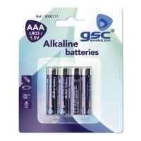 Scatola 10 blister di 4 unità di batterie alcaline LR 03 (AAA) GSC