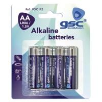 Scatola 10 blister di 4 unità di batterie alcaline LR 6 (AA) GSC